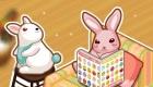 decoración : Juego de decorar la casa del conejo de Pascua