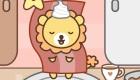 cocina : Juego de desayunar con un león