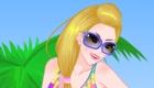 vestir : Vestir a chica para la playa