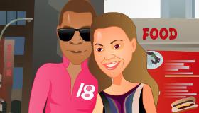 famosos : Juego de besos de Beyonce y Jay-Z