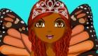 vestir : Viste a la princesa mariposa