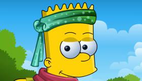 famosos : Vestir a Bart Simpson