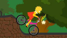 famosos : El viaje en bici de Lisa Simpson