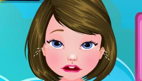 Una niña con gripe