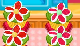 cocina : Cupcakes de flores