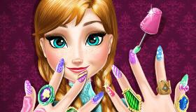 famosos : Manicura Frozen para Anna