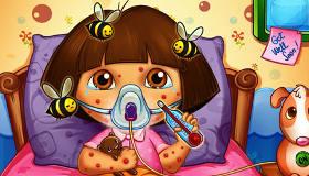 famosos : Cuando una abeja picó a Dora