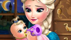 Cuidar al bebé de Elsa