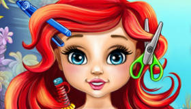 famosos : Cortar el pelo a la bebé Ariel