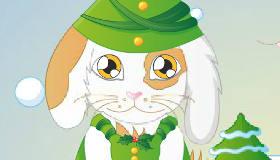 vestir : Juego de conejo de Navidad