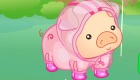 vestir : Juego de vestir de lluvia con un cerdo