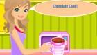 Pastel de chocolate para chicas