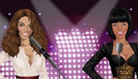 famosos : Juego de vestir a Rihanna y Beyonce