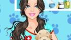 vestir : Vestir a una chica veterinaria