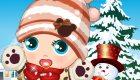 vestir : Juego de bebé en invierno