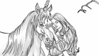 gratis : Colorear unicornios