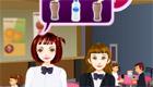 cocina : Una chica camarera de una cafetería