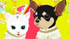 vestir : Boda entre un perro y una gata