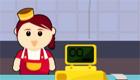 cocina : Una joven camarera