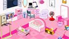 decoración : Una habitación de chica completamente rosa