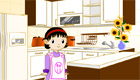 decoración : Una chica en la cocina