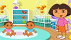 famosos : Dora baby-sitter