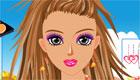 maquillaje : Maquilla a una chica con colores vivos