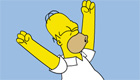 famosos : Homer Simpson hace muecas