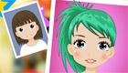 """maquillaje : Juego de belleza """"antes y después"""""""