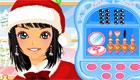 maquillaje : Juego de Navidad; una top model por Navidad