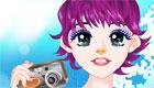 maquillaje : Una chica fotógrafa de moda