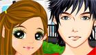 maquillaje : Una chica y un chico