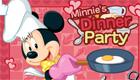 Minnie, una chica en la cocina.