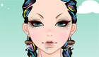 maquillaje : Una chica con look rasta