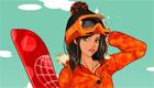 vestir : Una chica esquiando
