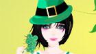 vestir : Una chica vestida para celebrar el día de Saint Patrick