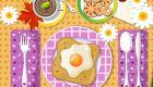 Decorar el desayuno