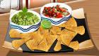 Nachos con salsa mexicanos
