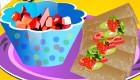 Salsa de fruta con chips