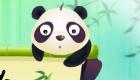 Juego de panda y frutas