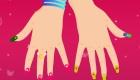 Preciosa manicura de uñas