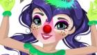 Maquillar a una chica de circo