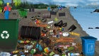 Limpia una playa contaminada