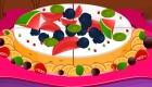 Cocina tarta de queso y frutas
