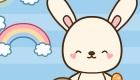 Juego de vestir a un conejo de Pascua