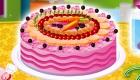 Decoración de pastel de frutas