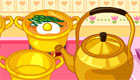 Una chica hace sopa