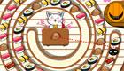 Un gato que hace sushi
