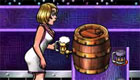 Una chica camarera de discoteca