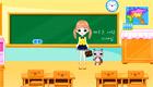 Una chica en el colegio